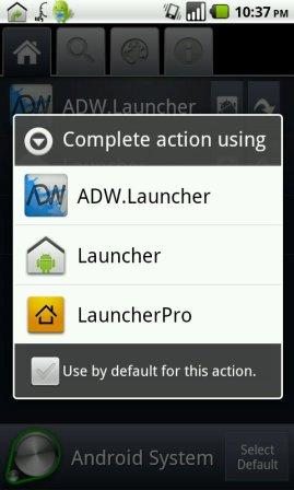 default android launcher