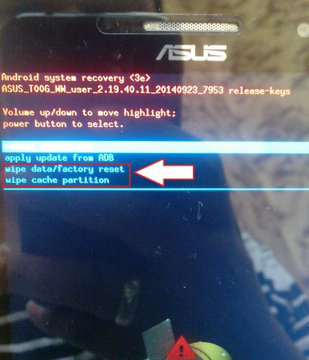 Gambar 3: Recovery Mode ASUS Zenfone 6