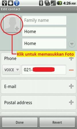 cara mengganti android contact photo