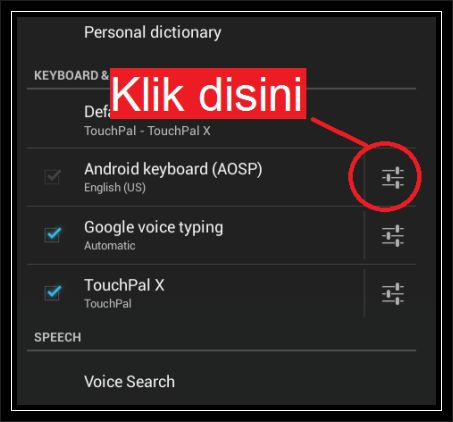 cara turn off auto correction tablet android