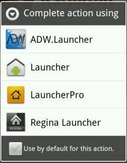 cara memilih launcher android