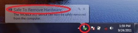 how to safely remove hardware