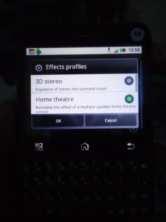 Motorola Charm Equalizer