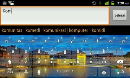 fitur prediksi kata keyboard android
