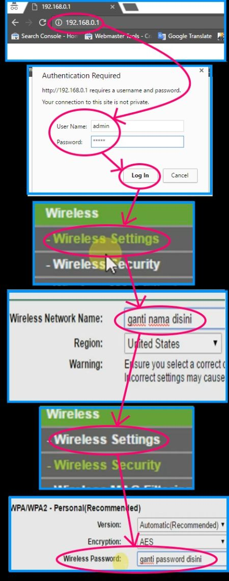 how to change wifi password in tp link router