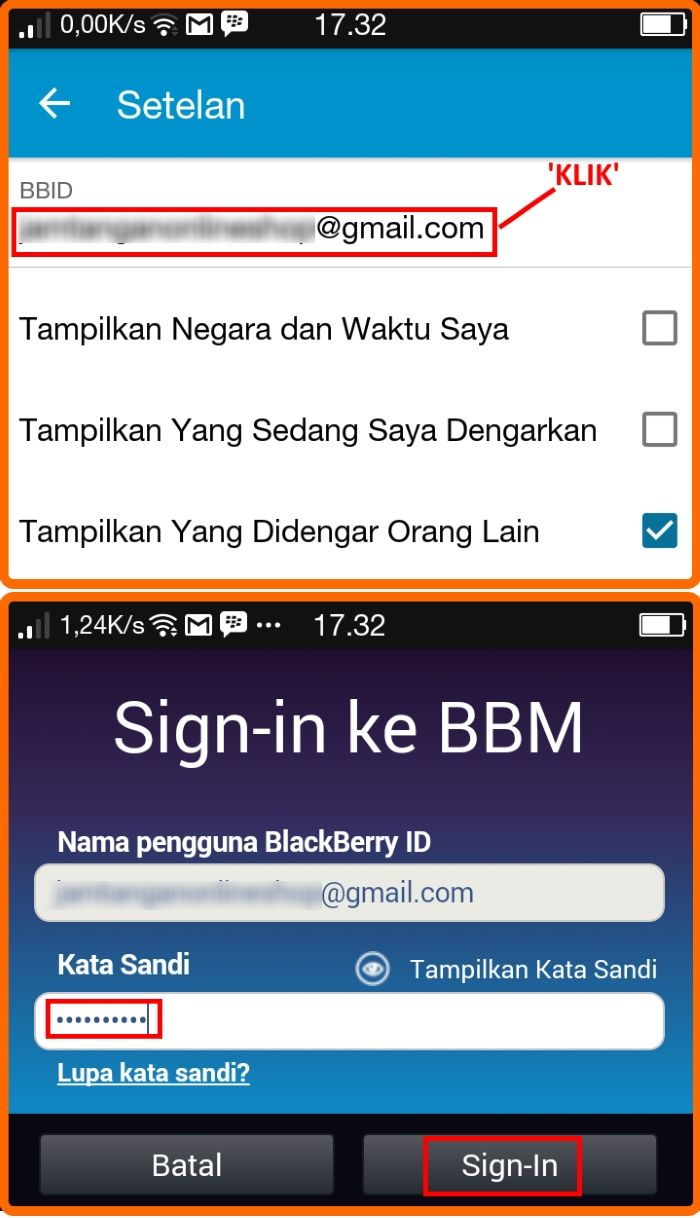 how to change email password on blackberry