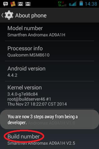 cara aktifkan usb debugging mode android