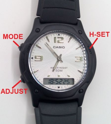 f01f4a8126d cara setting jam casio analog digital aw 49he