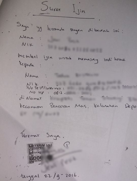 Contoh Surat Pernyataan Batal Pindah Domisili